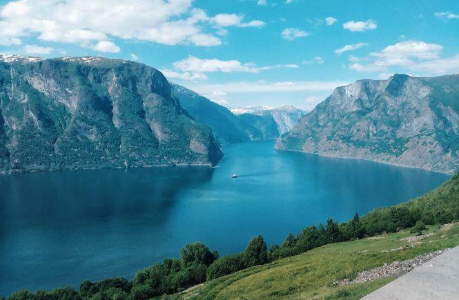 View Of Aurland From Stegastein