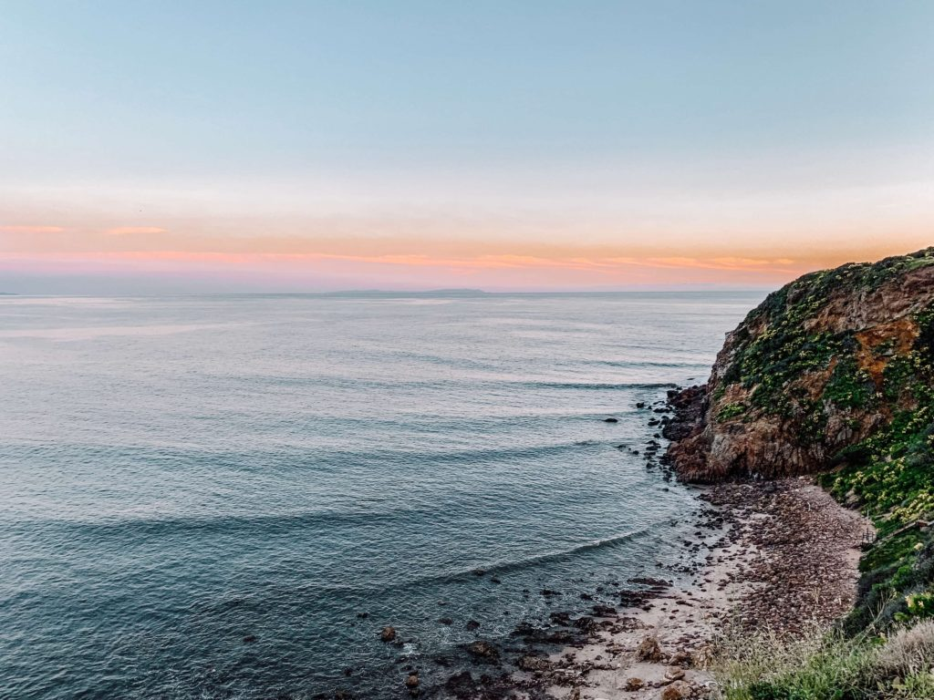 view from point dume at sunset