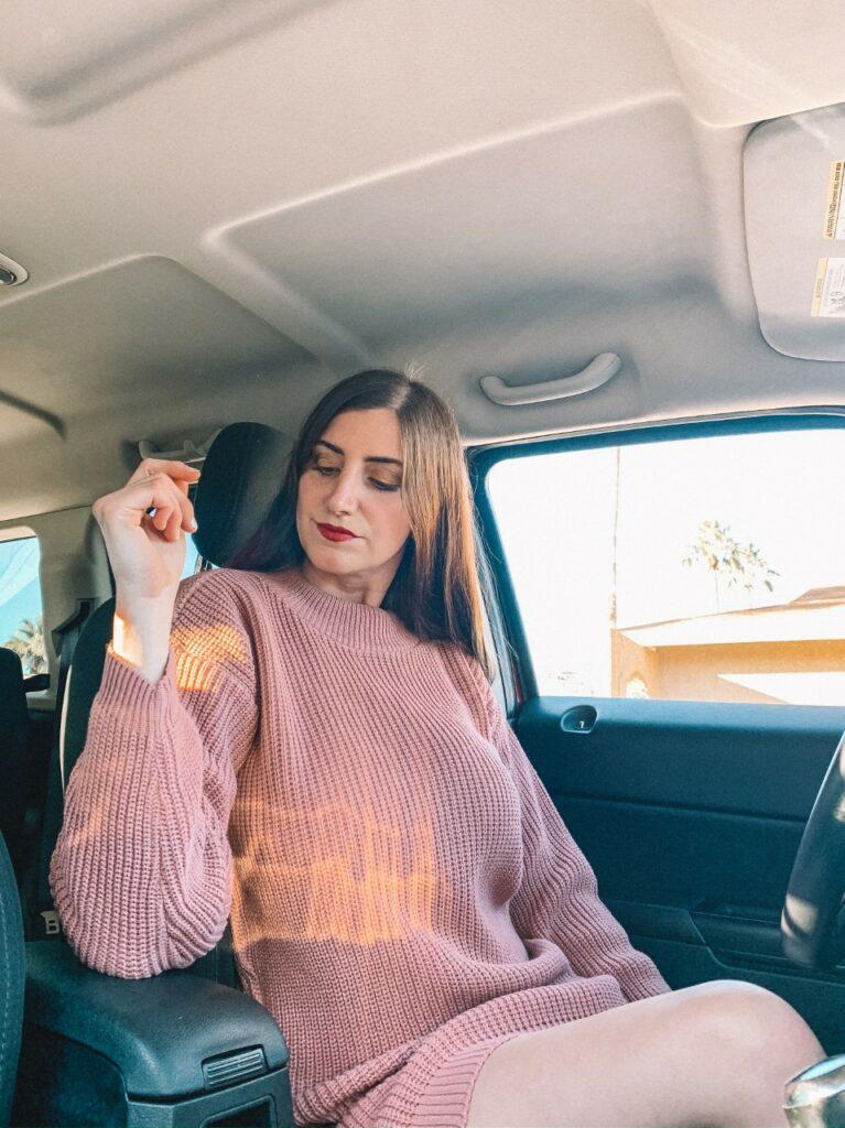 femme luxe sweater dress
